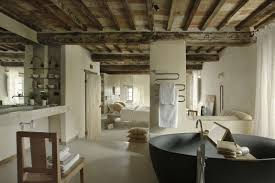 rustic bathrooms ideas extraordinary bathroom tub chair towel sink bed beams and small