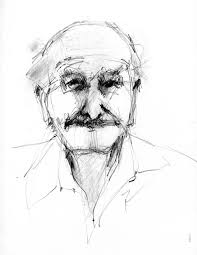 the daily sketch duane eells portrait of old man 2