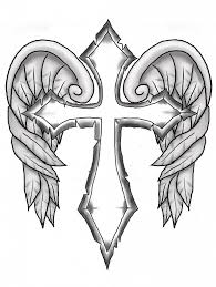 cross with wings coloring pages 8852