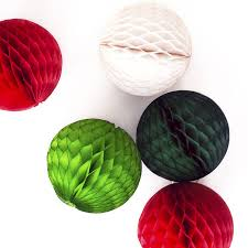 christmas tissue paper ball decoration by peach blossom