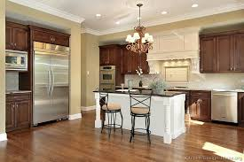 white island kitchen pictures of kitchens traditional two tone kitchen cabinets