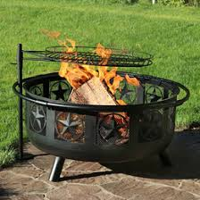 Grill For Fire Pit by Sunnydaze All Star Fire Pit W Cooking Grate U0026 Screen
