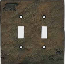 bear light switch covers bear and tracks wall plate covers