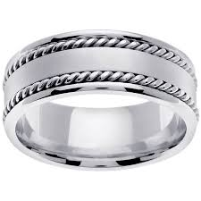 Platinum Comfort Fit Wedding Band Platinum Edge Braid Handmade Comfort Fit Men U0027s Wedding Band