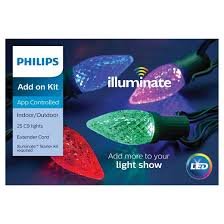 philips 25ct led illuminate add on kit faceted c9