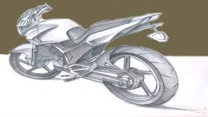 3d motorcycle drawing youtube