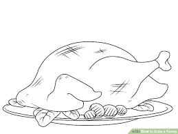 5 ways to draw a turkey step by step wikihow