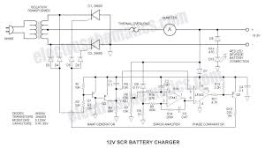 Solar Light Charging Circuit 12v Battery Charger Using Scr
