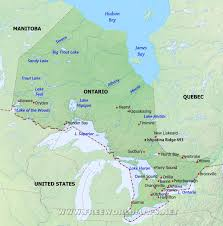 Ottawa Canada Map Physical Map Of Ontario