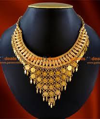 necklace choker design images Nckn43 exculsive hand made choker design lakshmi coin net necklace jpg