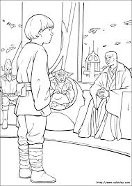 COLORIAGE  Star wars le jeune Anakin Skywalker