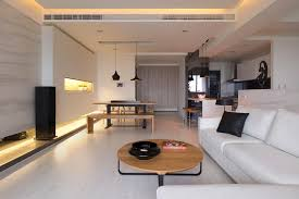 Interior Design Open Floor Plan A Letterbox Of Light Flanks The Dining Place Creating Ambient