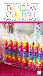 gumball party favors diy rainbow gumball wands party favors soiree event design