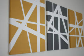 decorations simple canvas painting ideas canvas art using tape