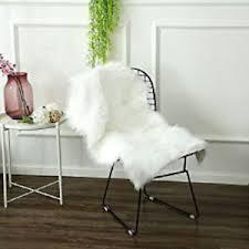 fur chair cover soft faux sheepskin chair cover seat cushion pad fur rug