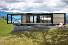 great over hill modern prefab home design using flat roofing style