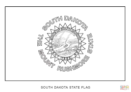south dakota state flag coloring page free printable coloring pages