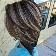 ash brown hair with pale blonde highlights not really a fan of chunky highlights but this is rely pretty