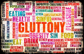 the seven deadly sins gluttony one of the seven deadly sins concept stock photo picture