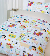 happy puppy quilt cover set dog bedding kids bedding dreams