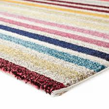 bright stripes colourful modern floor rugs free shipping in
