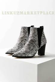 womens chelsea boots nz nz 91 silver intentionally blank glitter chelsea boot on