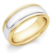 plain gold wedding bands 7mm plain two tone gold wedding band