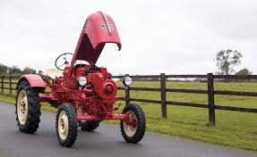 till your fields in style with this vintage porsche tractor