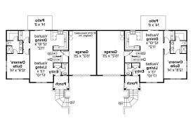 floor two story duplex floor plans