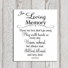in loving memory wedding wedding memorial table in loving memory printable memorial sign