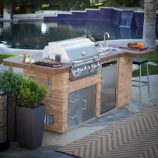 outdoor kitchen faucets gripping outdoor kitchen grill island kit with bull undercounter