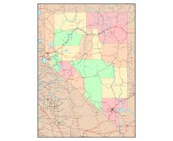 Map Of Nevada And Utah by Maps Of Nevada State Collection Of Detailed Maps Of Nevada State