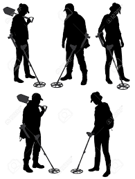 Free Silhouette Images Metal Detecting Silhouette On White Background Royalty Free