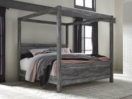 Canopy Bedding Baystorm Gray King Canopy Bed From Coleman Furniture