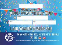 bubble soccer scotland children u0027s birthday parties