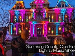guernsey county courthouse holiday light show oh ohio find