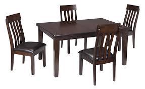 signature design by ashley haddigan dark brown 5 piece dining room