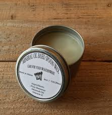 mineral oil based spoon wax large 4oz container butcher block mineral oil based spoon wax large 4oz container butcher block wax cutting board oil wooden spoon paste made in maine usa
