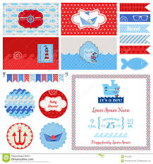 baby shower nautical set stock vector image 41613537