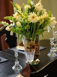 kitchen floral arrangements for dining room table with regard to