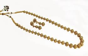 Buy Designer Gold Plated Golden Buy Traditional U0026 Beautiful Gold Plated Kasu Long Mala With Golden