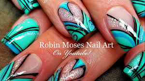 holo heart striped hand painted nails beautiful diy nail art