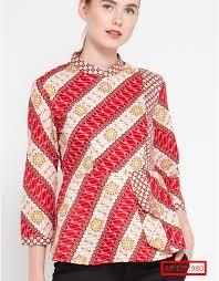 gambar model baju batik modern gambar model baju batik atasan lengan panjang model baju