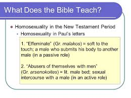 against nature u201d what the bible teaches about homosexuality ppt