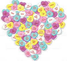 valentine heart candy hearts stock vector art 165033852 istock
