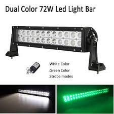 led security light bar green white strobe 13 5 72w led light bar spot flood combo atv