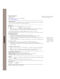 Example Chronological Resume by Example Of A Chronological Resume
