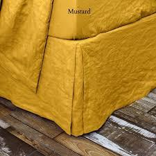 Bed Skirt With Split Corners Buy Hotel Style Linen Bedskirt Online Linenshed U2013 Linenshed