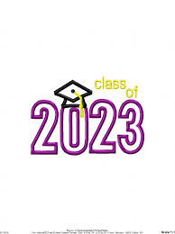 class of 2023 appliqué embroidery design graduation appliqué