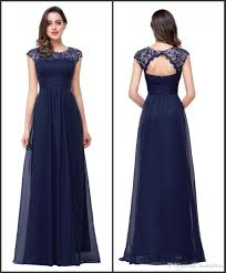 navy blue bridesmaid dress cap sleeve navy blue bridesmaid dresses 2017 keyhold back vintage